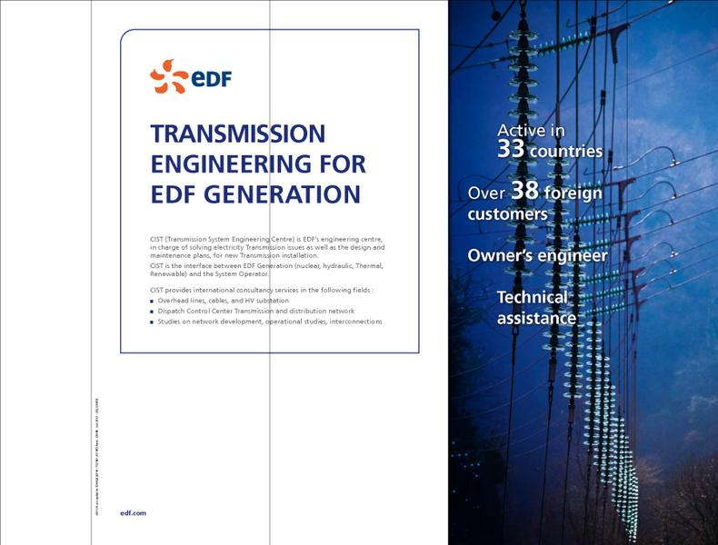TRANSMISSION ENGINEERING FOR EDF PRODUCER
