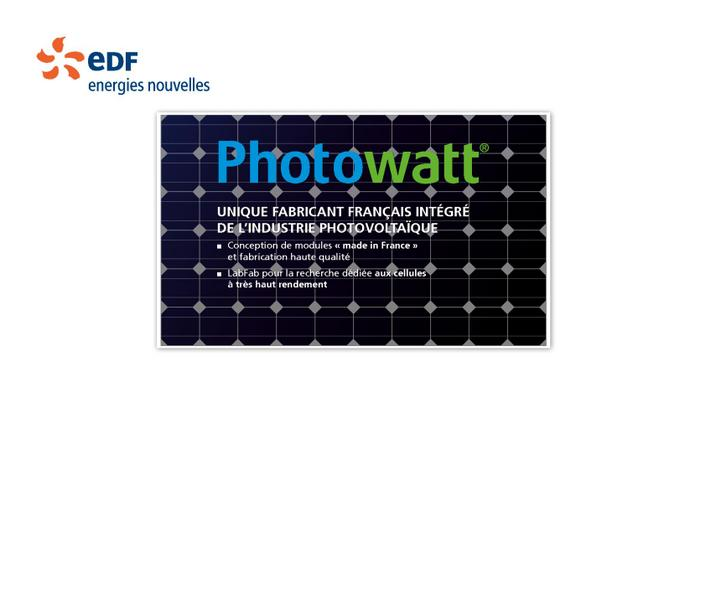PHOTO WATT : UNIQUE FABRICANT FRANÇAIS INTEGRE DE L'INDUSTRIE PHOTOVOLTAïQUE