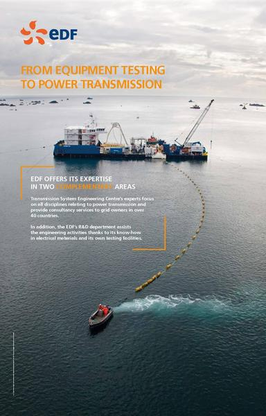 FROM EQUIPMENT TESTING TO POWER TRANSMISSION