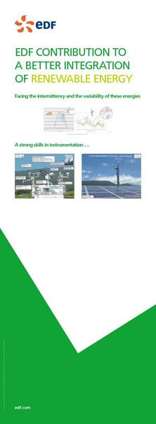 EDF CONTRIBUTION TO A BETTER INTEGRATION OF RENEWABLE ENERGY