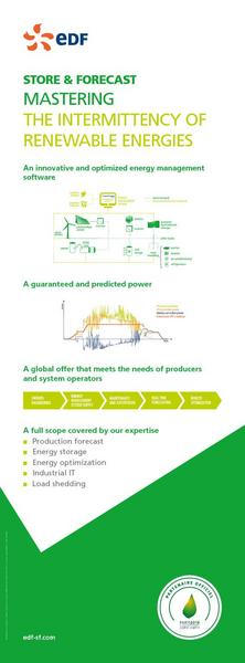 STORE & FORECAST MASTERING THE INTERMITTENCY OF RENEWABLE ENERGIES