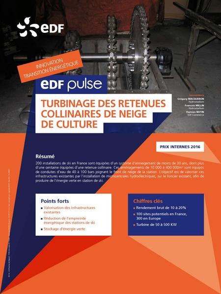 EDF Pulse TURBINAGE DES RETENUES COLLINAIRES DE NEIGE DE CULTURE